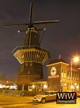 Gooyer windmolen Amsterdam nacht amsterdambynight