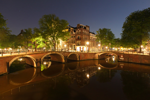 Amsterdam Night Spotlight Canals amsterdambynight