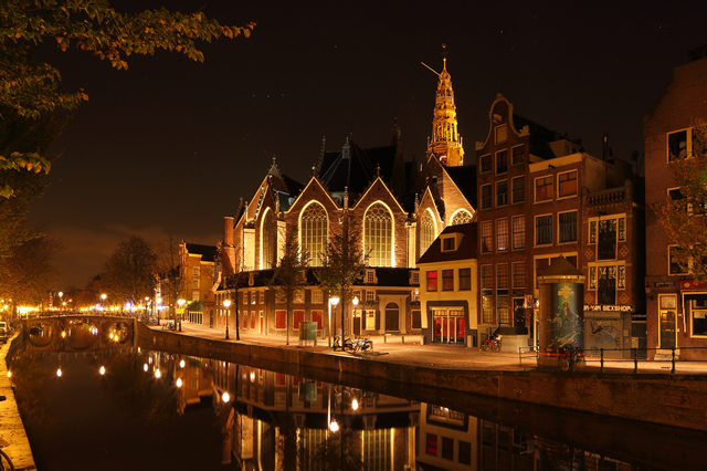 AmsterdambyNight Oude Kerk Old Church Amsterdam Night